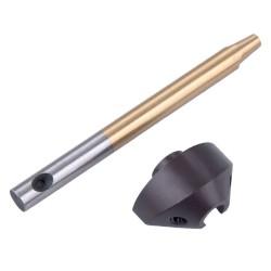 Kartáč ruční průměr 25mm, ocelový drát, plastová rukojeť